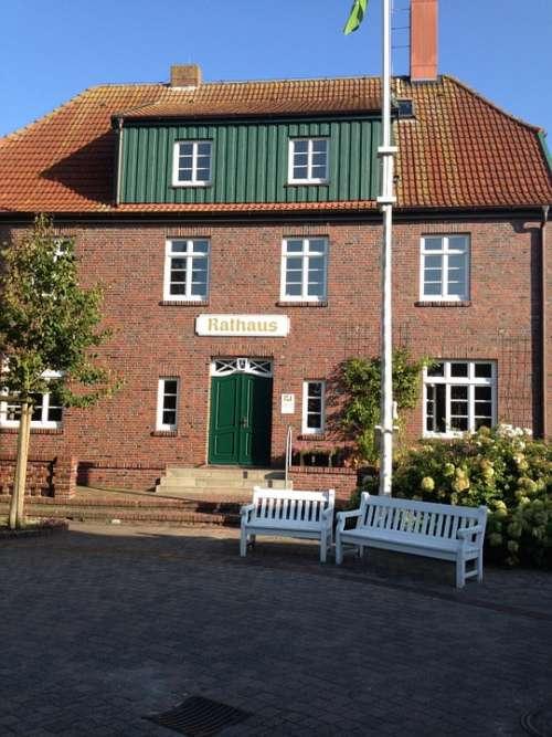 Town Hall Island Spiekeroog North Sea