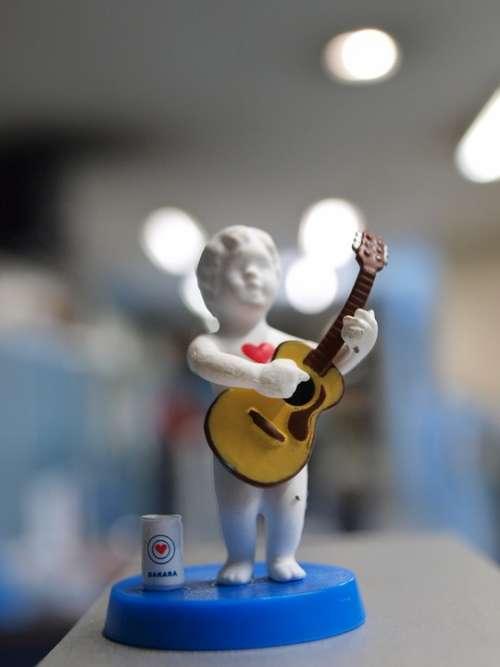 Toy Miniature Musician Guitar Love