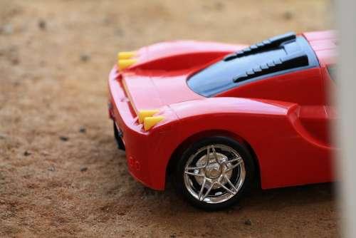 Toy Car Cart Play Childhood Ferrari Childish Fun