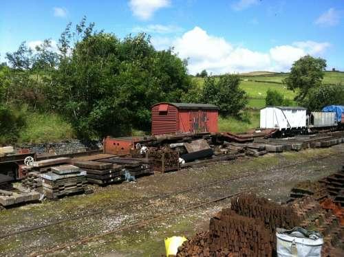 Tracks Rails Disused England North Rail Tracks