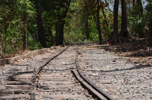 Tracks Rails Railway Old Train Railway Railroad
