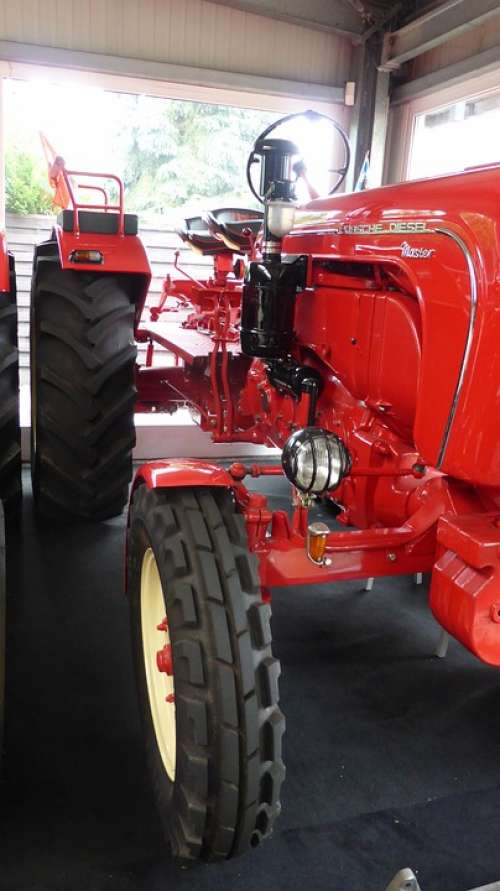 Tractor Porsche Red Nose Oldtimer Agriculture Red