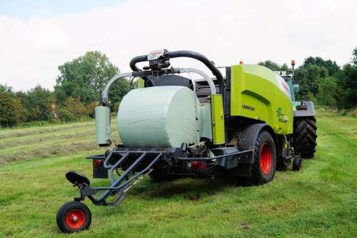 Tractors Heurundballen Round Bales Bale Hay Slide