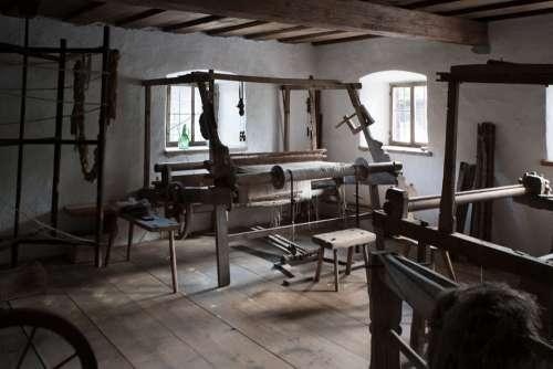 Traditional Weaving Room Austria Indoors