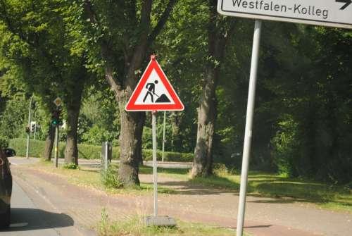 Traffic Sign Site Street Sign Warnschild Traffic