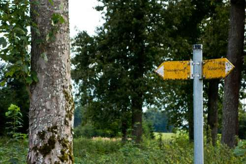 Trail Directory Shield Signposts Direction Nature