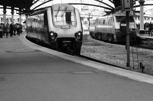 Train Station Rail York England Business Railway