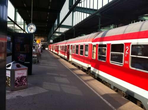 Train Railway Station Stuttgart
