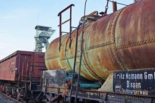 Train Tank Wagon Wagon Bill Railway Gleise