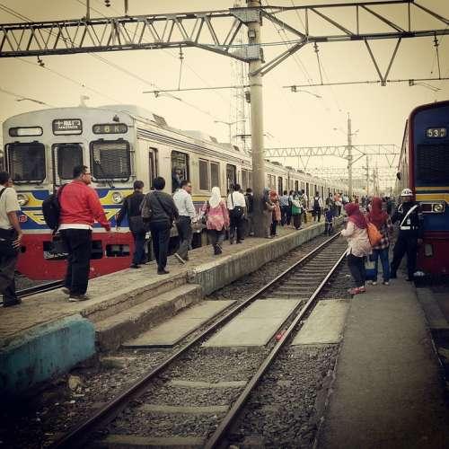 Train Station Passenger Vintage People Travel