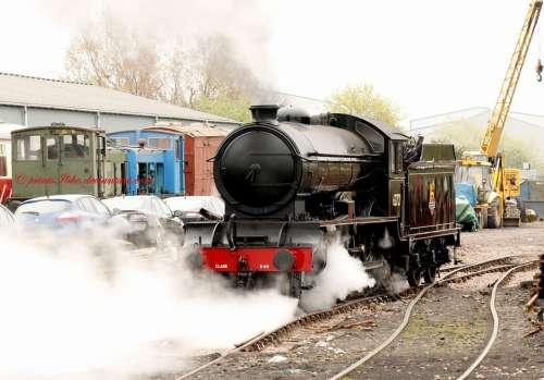 Train Engine Steam Rail Railway Transport