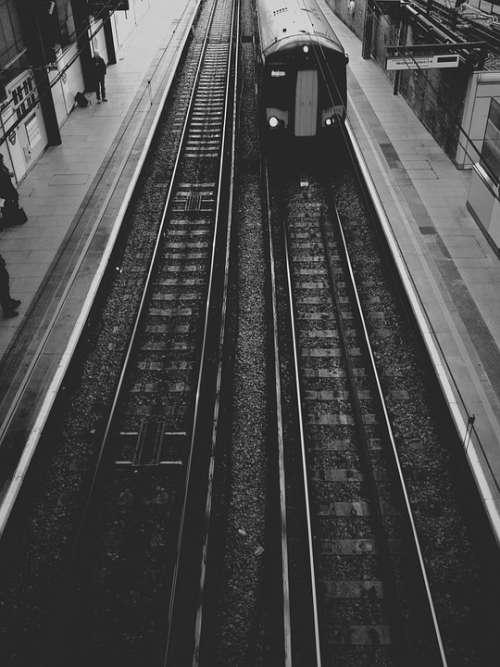 Train Subway Track Transport Travel Underground