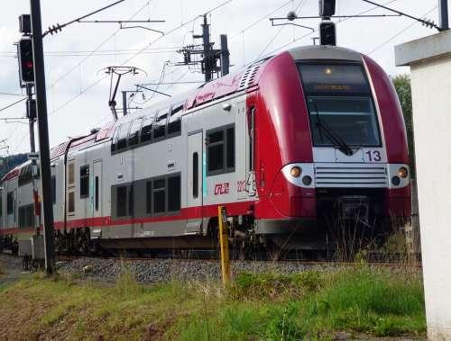 Train Train Unit Travel Luxembourg