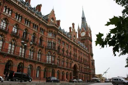 Train Station Train Saint Pancras Station London