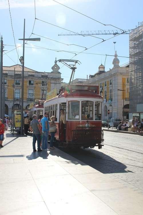Tram Electric Tram Transportation Transport Tramway