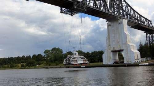 Transporter Bridge Ferry Bridge Crossing Rendsburg