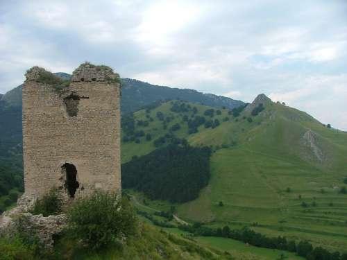 Transylvania Rimetea Castle Ruins Nature Forest