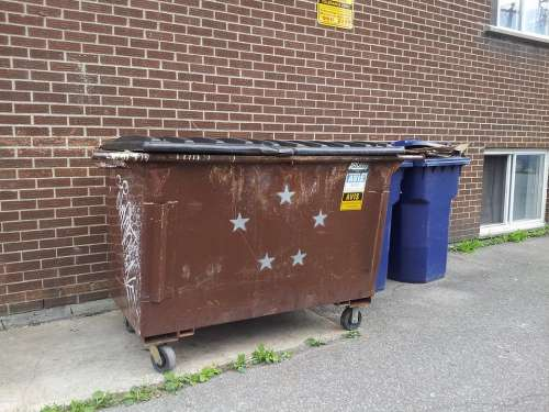 Trash Container Can Recycle Symbol Stars Sign
