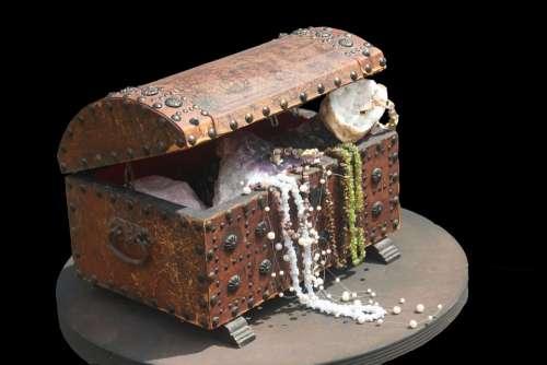 Treasure Gems Box Treasure Chest Decoration