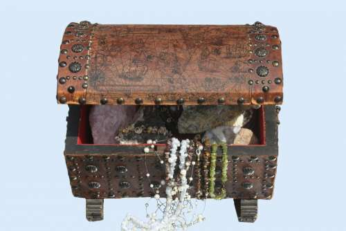 Treasure Chest Chest Gems Box Open Decoration