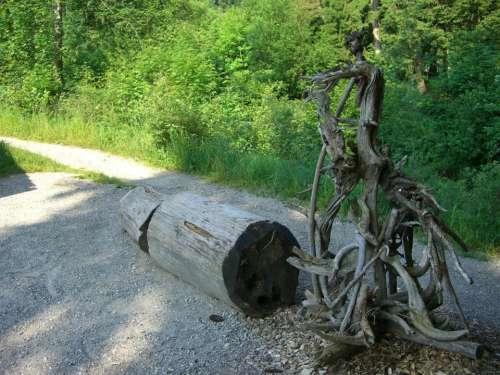 Tree Root Gnarled Root Figure Vielfuessler Monster