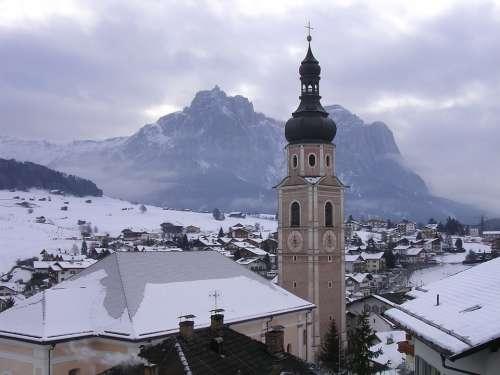 Trentino Campanile Snow Architecture