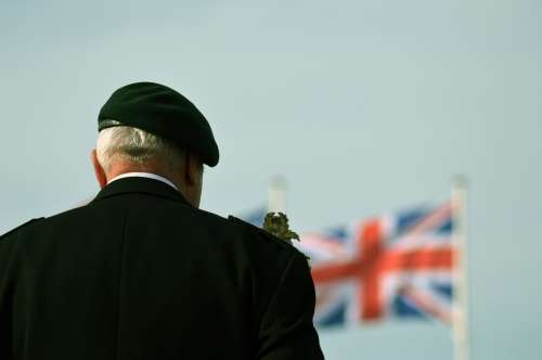 Tribute Veteran Commemoration Flag Beret Normandy