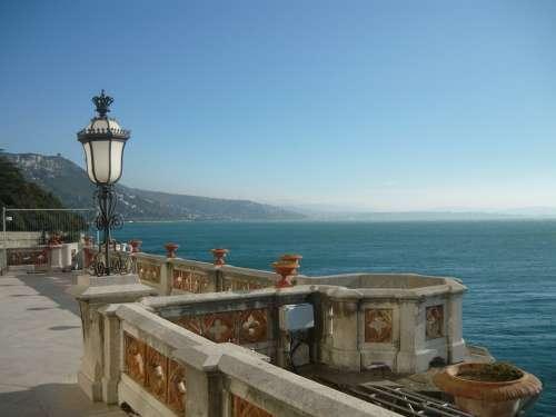 Trieste Italy Castle Mountain Lake