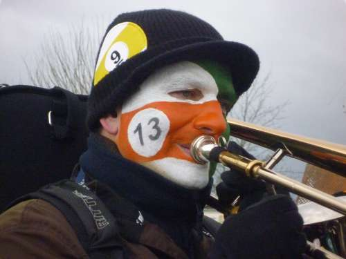 Trombone Brass Band Carnival Human Masks Music