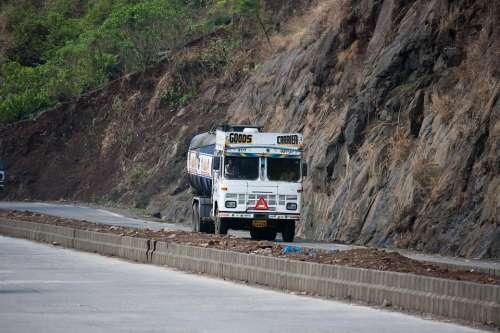 Truck India Road Transportation Retro Lorry