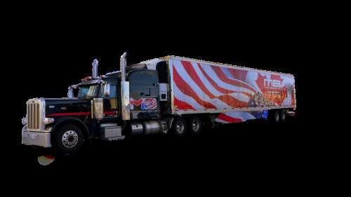 Truck American Transport Traffic Trailer Vehicle