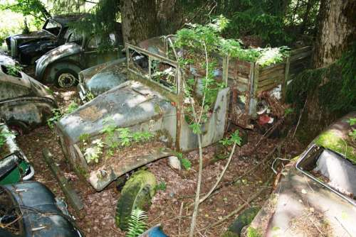 Truck Car Cemetery Old Rust Oldtimer