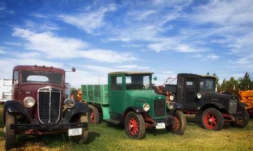 Trucks Pickups Vehicles Travel Transportation Sky