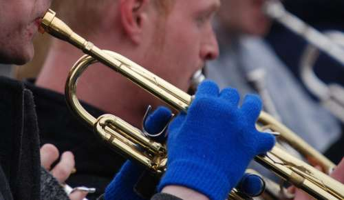 Trumpet Musical Instrument Music Outdoors Winter