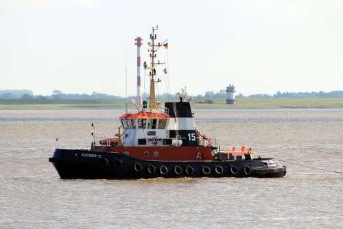 Tug Ship Schleppdampfer Elbe Boat