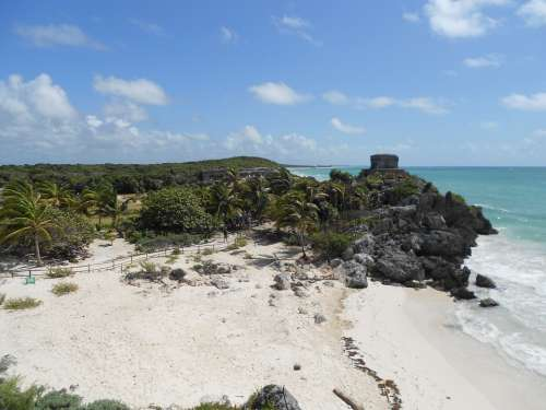 Tulum Mexico Beach Aztec Inca Maia