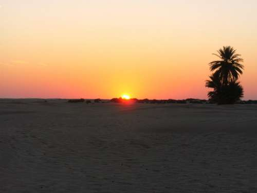 Tunisia Desert Sunset