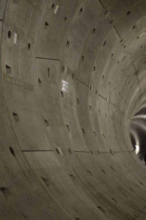 Tunnel Concrete Depth Deep Grey Dark