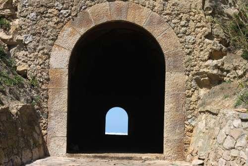 Tunnel Stone Sky