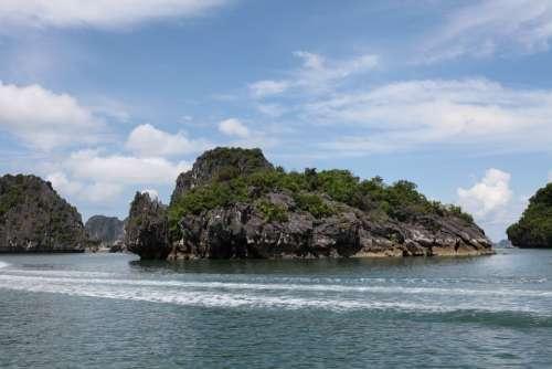 Turtle Rock Rock Water Sea Ocean Vietnam