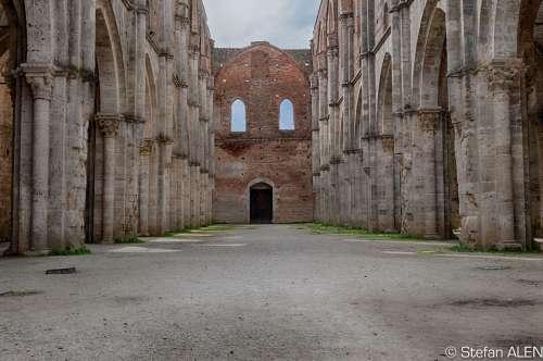 Tuscany Italy Monastery Abbey Ruin San Galgano