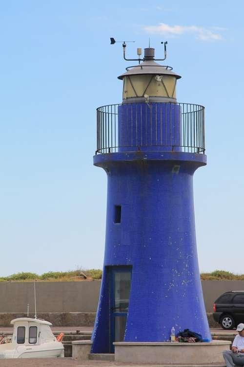 Tuscany Castiglione Lighthouse Sea Summer Blue
