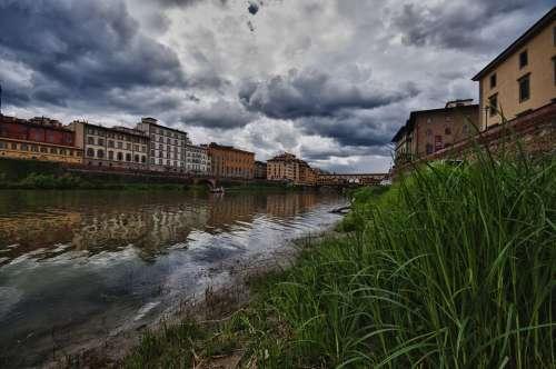 Tuscany River Arno Ponte Vecchio