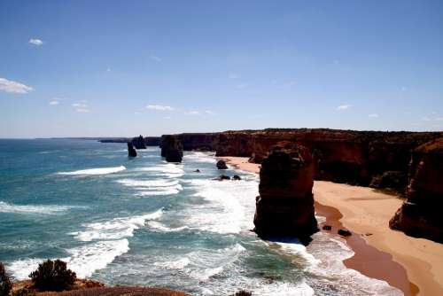 Twelve Apostles Coast Sea Australia Water Rock