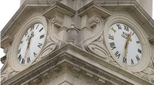 Two Clocks Clocks Night Cometh Architecture Time