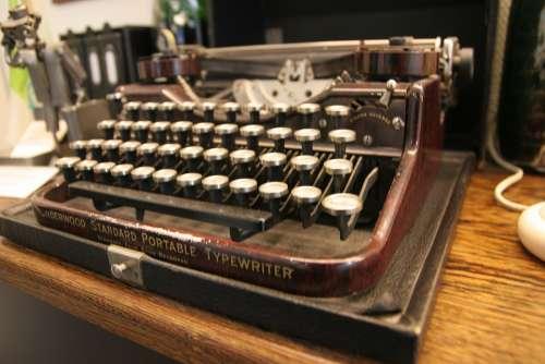 Typewriter Historically Keys Old Keyboard Office