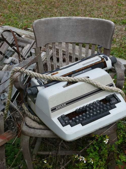 Typewriter Vintage Old Adler Keys Type Rope