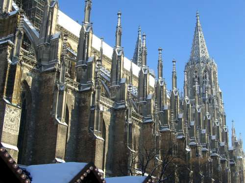 Ulm Cathedral South Side Choir Towers Gothic