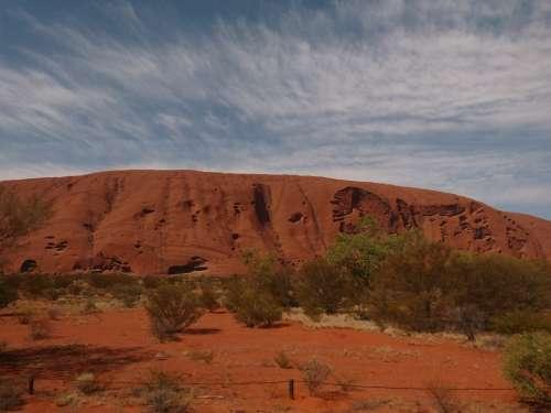 Uluru Ayersrock Australia Outback Landscape