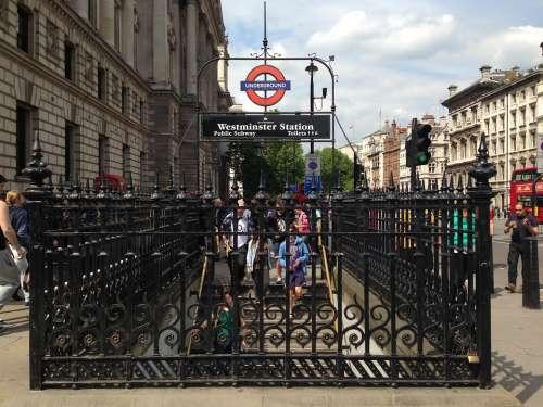 Underground London Uk England Subway